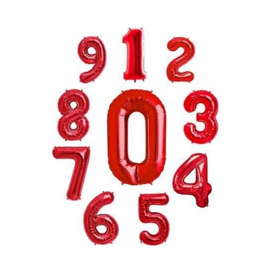 بادکنک فویلی اعداد قرمز