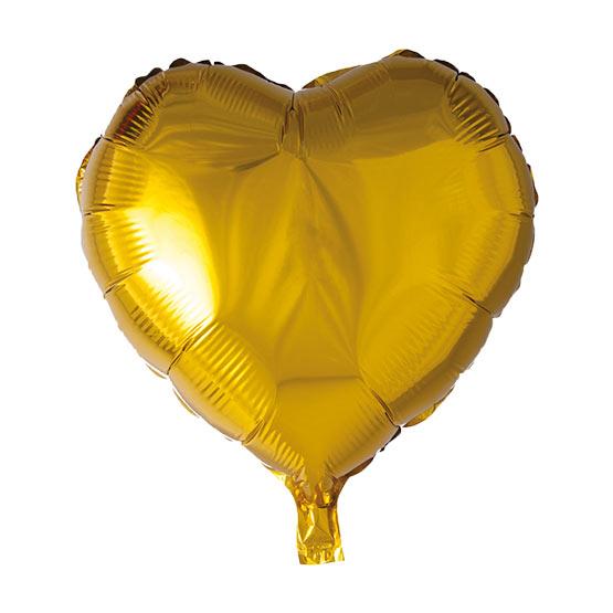 بادکنک فویلی قلب طلایی