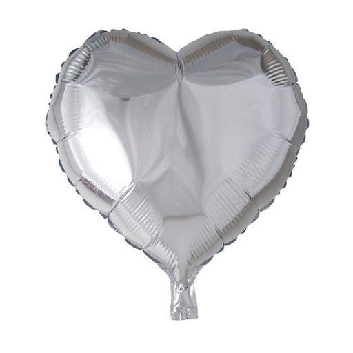 بادکنک فویلی قلب نقرهای