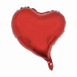 بادکنک فویلی قلب اشکی قرمز