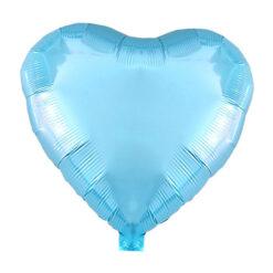 بادکنک فویلی قلبی آبی