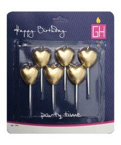 شمع قلب کوچک طلایی