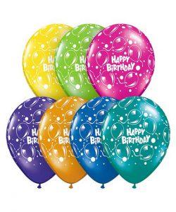 بادکنک میکس چاپ HAPPY BIRTHDAY