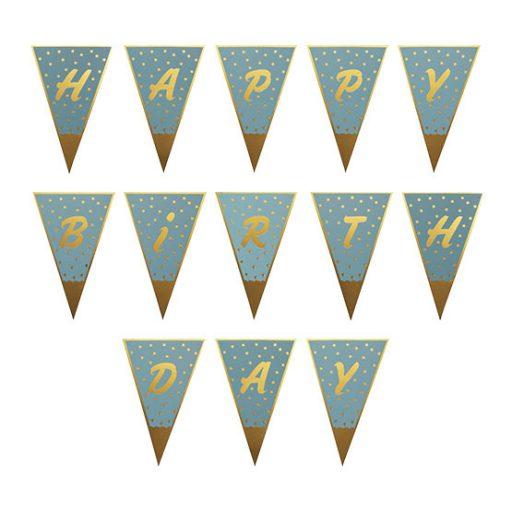ریسه مثلثی طلاکوب آبی