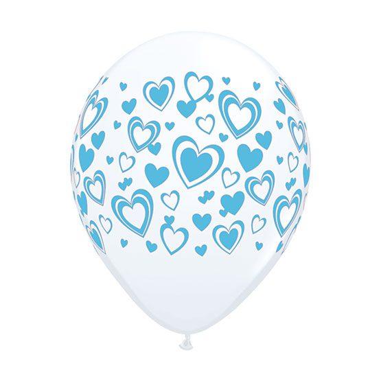 بادکنک شیشهای قلب آبی