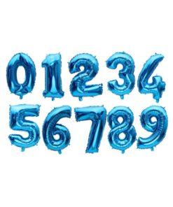 بادکنک فویلی اعداد آبی