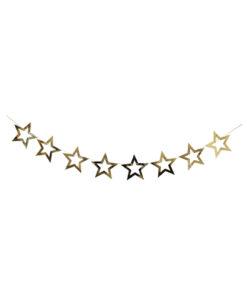 ریسه ستاره توخالی طلایی